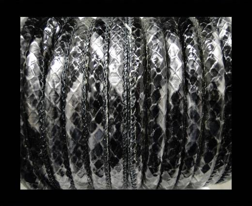 Eco-Nappa 6mm Rattle Snake Style - oblong grey