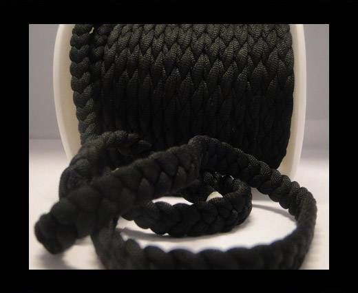 Fabric braided cord-8mm-Black