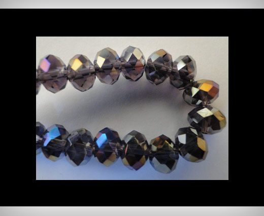 Faceted Glass Beads-14mm-Amethyst-AB