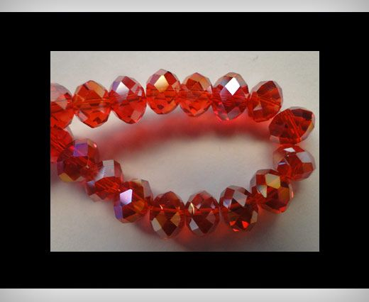 Faceted Glass Beads-12mm-Granate-AB