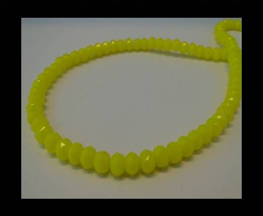 Faceted Glass Beads-6mm-Neon Yellow