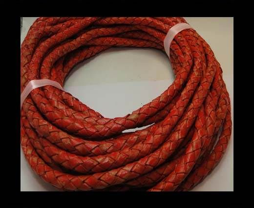 Fine Braided Nappa Leather Cords-8mm-DI PB 34 vintage red