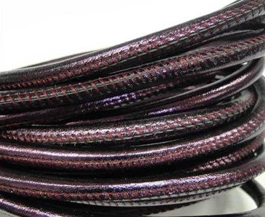 Fine Nappa-Plain-Style-Metallic purple-6mm