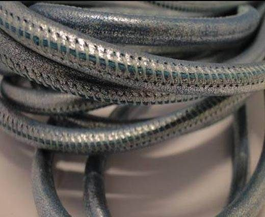 Fine Nappa-Plain Style-Metallic Silver Blue-6mm