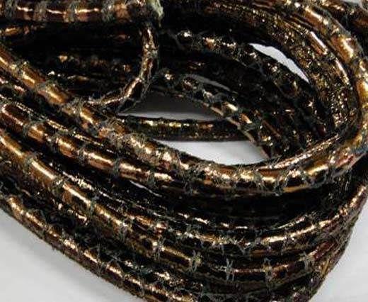 Fine Nappa-Snake-style-Crackled Bronze-6mm
