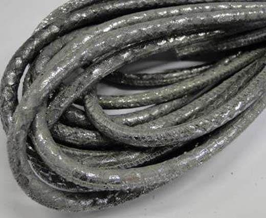 Fine Nappa-Snake-style-Light Silver-6mm
