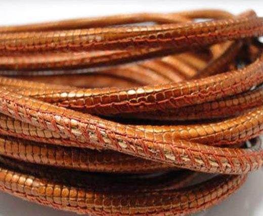 Fine Nappa-Snake-style-Orange -4mm