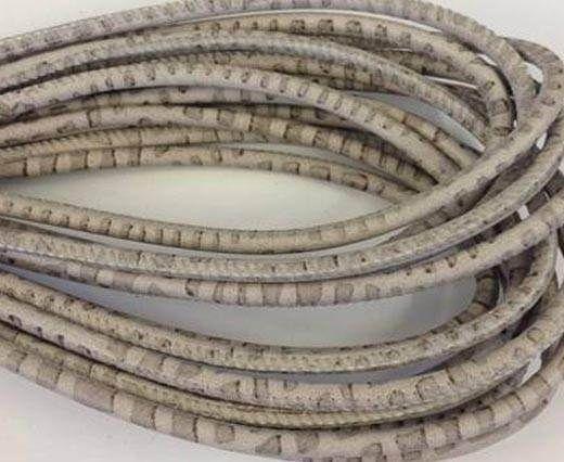 Fine Nappa-Snake style- Grey-Beige -4mm