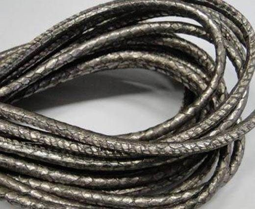 Fine Nappa-Snake style-Antique silver -4mm