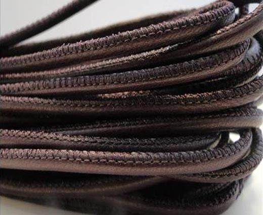 Fine Nappa Leather Round Stitched - Light Violet-2,5mm