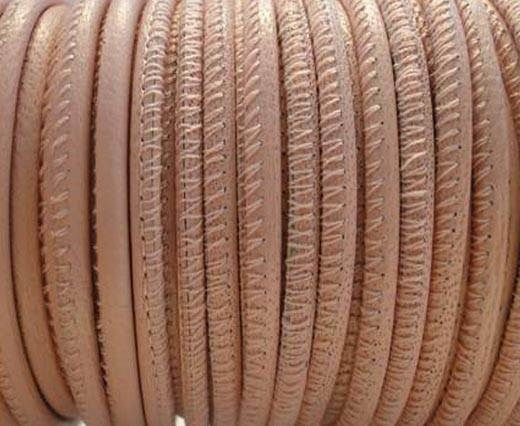 Fine Nappa Leather Round Stitched -Nude-2,5mm