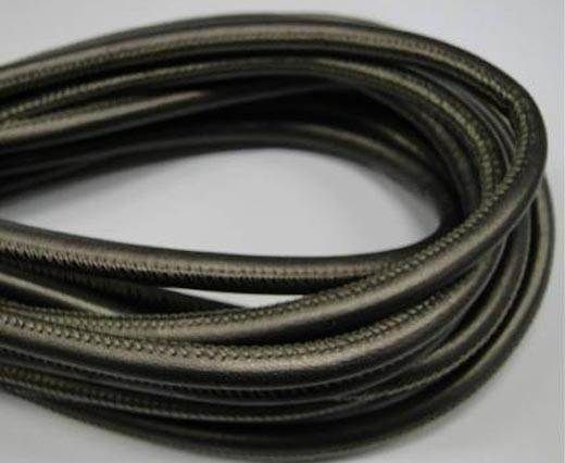 Buy Round stitched nappa leather cord Gun barrel-6mm at wholesale price