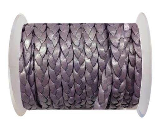 Flat 3-ply Braided Leather Metallic-SE-M-07-10MM
