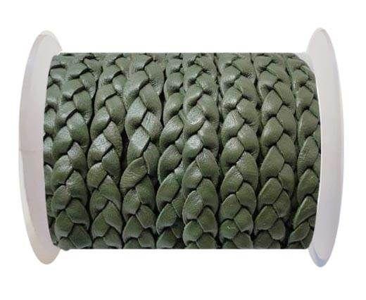 Flat 3-ply Braided Leather-SE-B-Khaki-10MM