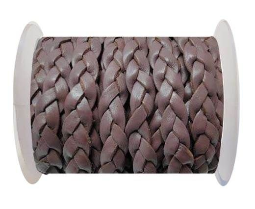 Flat 3-ply Braided Leather-SE-Taupe-10MM