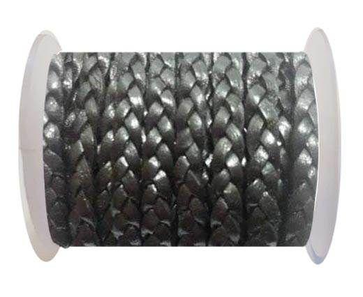 Choti-Flat braided leather 3 ply 5mm -  SE DB 14