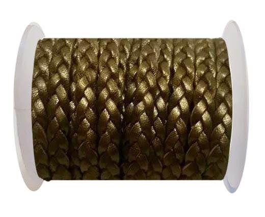 Choti-Flat 3-ply Braided Leather -SE M.Bronze