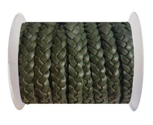 Choti-Flat 3-ply Braided Leather --5MM- SE DARK GREEN