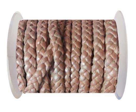 Choti-Flat 3-ply Braided Leather --5MM-SE M BABY PINK