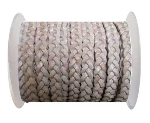 Choti-Flat braided leather 3 ply 5mm - SE FPB 20