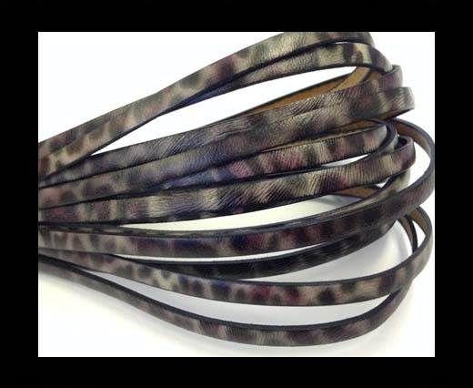 Flat Italian Leather-5mm- Leopard Fuxia
