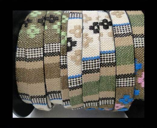 Flat multicolor Fabric cord-10mm-Color 8