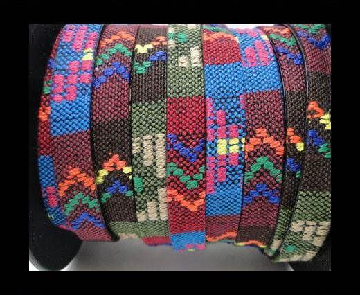 Flat multicolor Fabric cord-10mm-Color 11