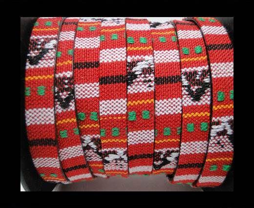 Flat multicolor Fabric cord-10mm-Color 12