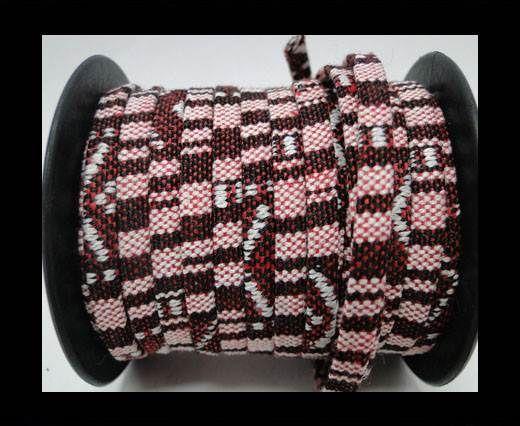 Flat multicolor Fabric cord-5mm-Color 6