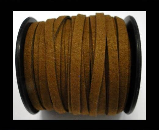 Flat Suede Cord - 5mm - Brown