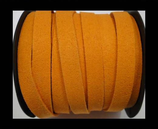 Flat Suede Cord - 10 mm - Orange