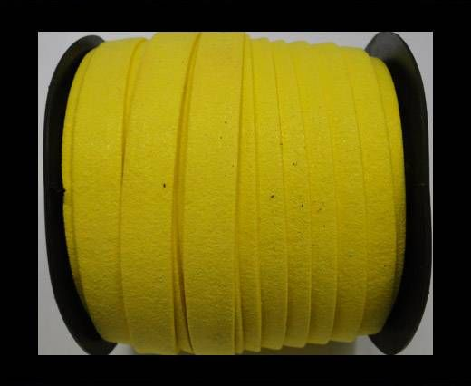 Flat Suede Cord - 10 mm - Yellow
