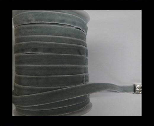 Flat Velvet Cords-10mm-Light Blue