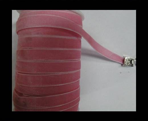 Flat Velvet Cords-10mm-Pink