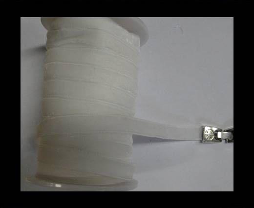 Flat Velvet Cords-10mm-White