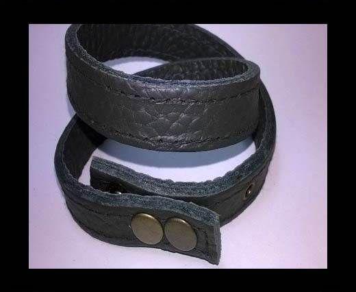 Full Real Leather bracelets - Black 1- 43cms