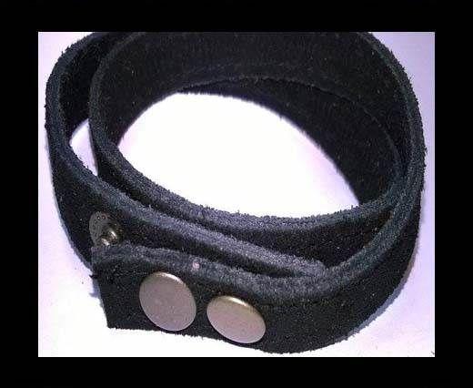 Full Real Leather bracelets - Black 2- 43cms