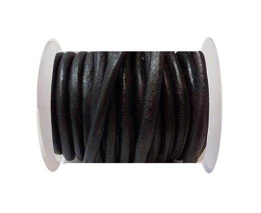 Round leather Cords - 6mm - SE.Black
