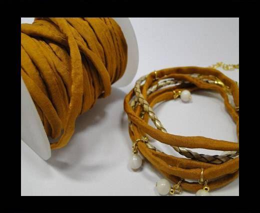 Habotai silk cords - Bright Camel