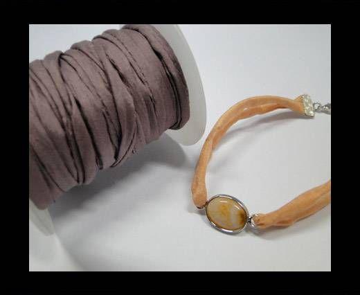 Habotai silk cords - Dusty Purple