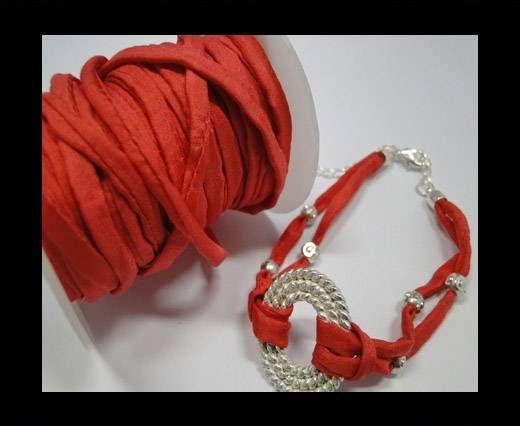 Habotai silk cords - Electric Pink