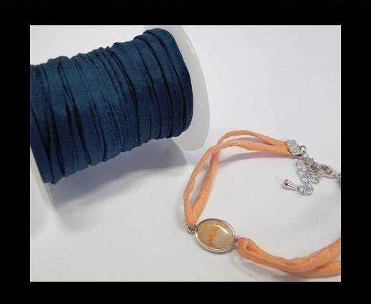 Habotai silk cords - Teal