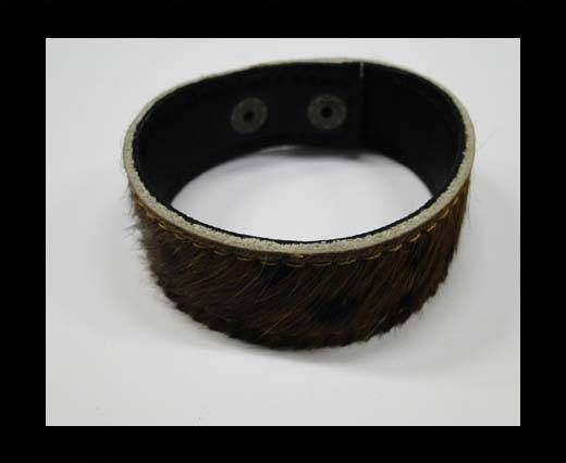 Hair-on bracelet-Brown-20mm