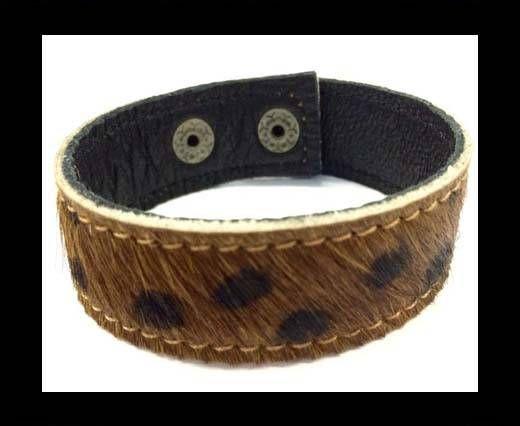 Hair-on bracelet-Dalmation Brown-20mm