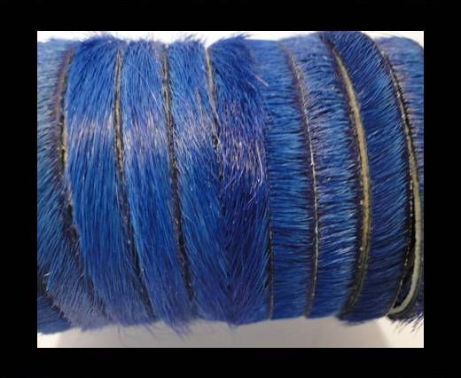 Hair-On Leather Flat-Dark Blue-20mm