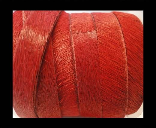 Hair-On Leather Flat-Red-20mm
