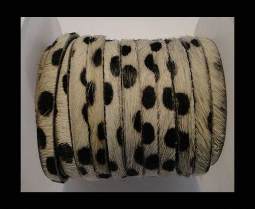 Hair-On Leather Flat-Dalmatian (small dots)-20mm