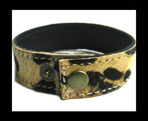 Hair-on ready bracelet - 20mm - Leopard