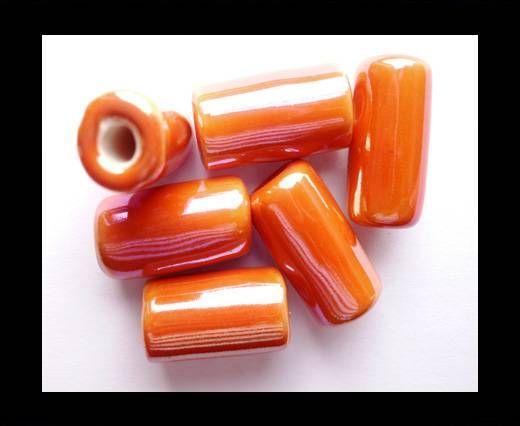 CB-Ceramic Flower-Hollow Tube-Orange AB