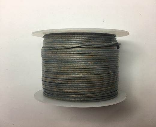 Buy Flat Leather Cords - Cow -width 2mm-SE/819 Vintage Grey at wholesale price